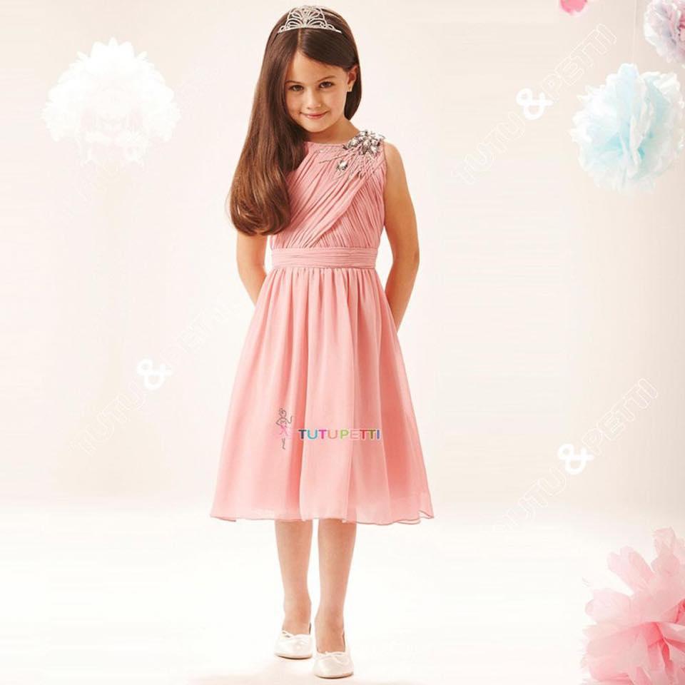 Đầm dài cho bé- váy dài sang chảnh - Đầm không tay