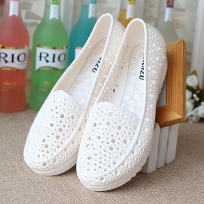 Sandal mùa hè - giày y tá trắng - giày mềm và thoải mái thích hợp cho bà bầu - Dép y tế - dép đi trong bệnh viện, phòng khám - dép đi trong spa
