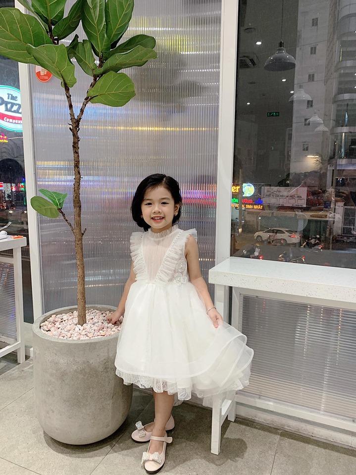 Đầm ren công chúa - Đầm trắng không tay siêu dễ thương cho bé