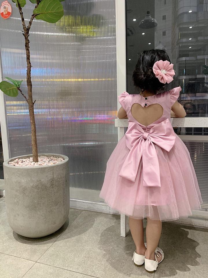 Đầm cột nơ siêu xinh - Đầm dáng xòe- Đầm xòe cho bé