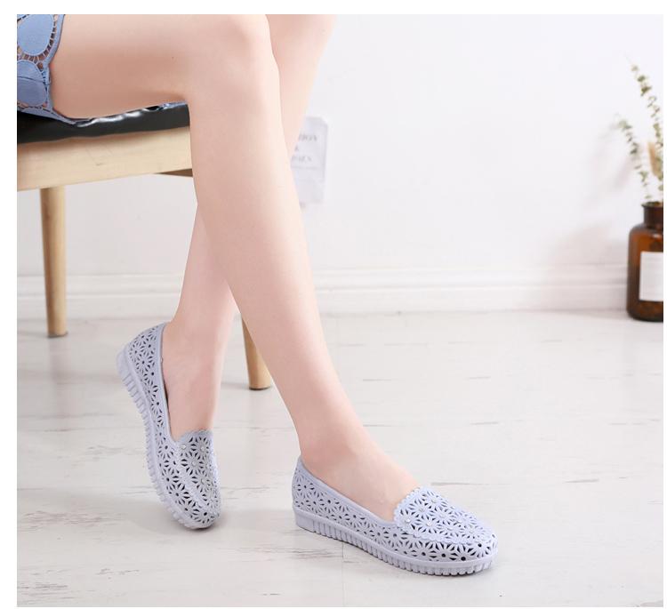 Giày nữ y tá trắng đính kim cương - giày lỗ siêu mềm - Giày sandal - giày y tá - giày dép y tế - dép đi trong bệnh viện, phòng khám - dép đi trong spa- giày búp bê