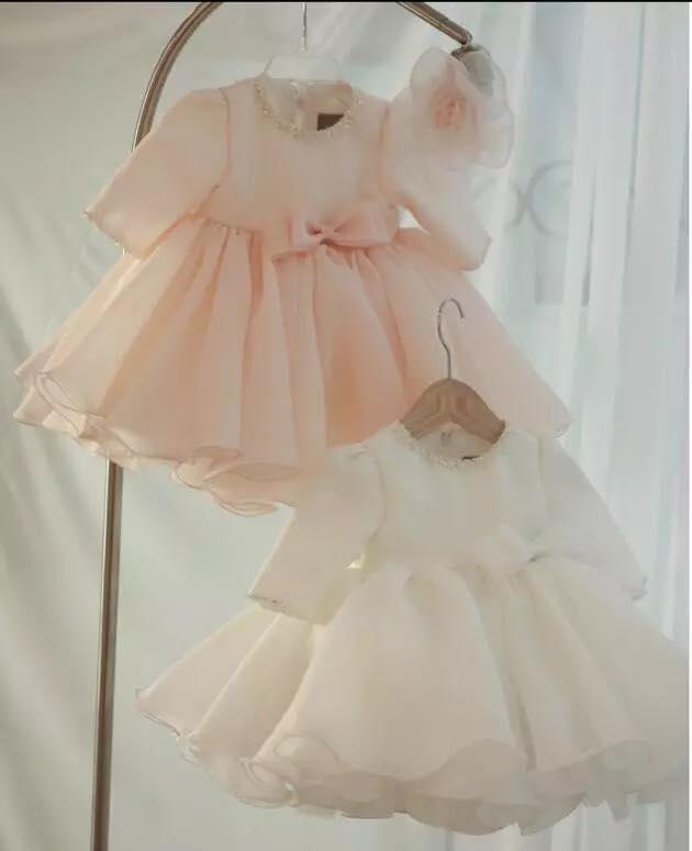 Váy công chúa - Đầm xòe đáng yêu thắt nơ cho bé gái
