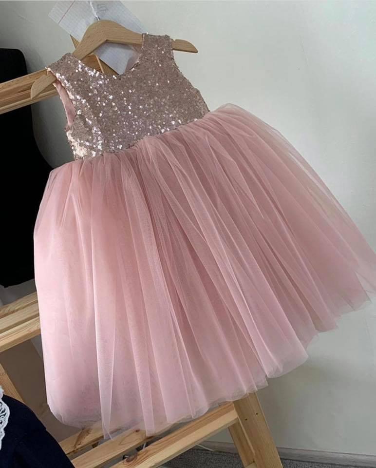 Đầm xòe công chúa - Đầm óng ánh kim sa - đầm không tay