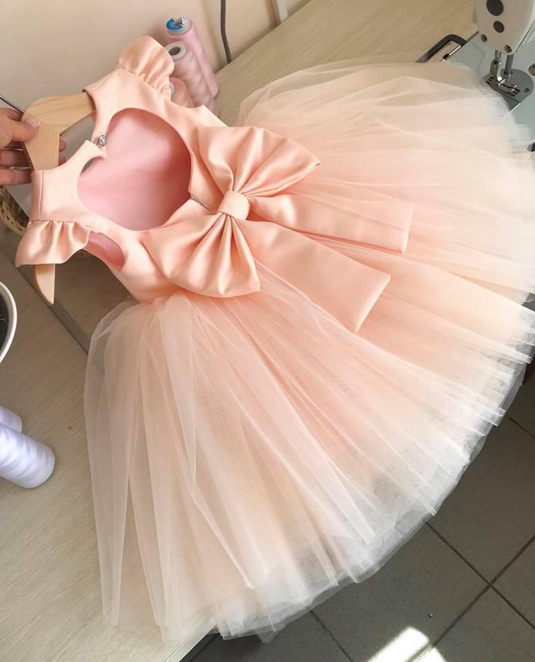 Đầm voan bồng - đầm cồn chúa hở lưng cho bé- đầm bé gái siêu cute