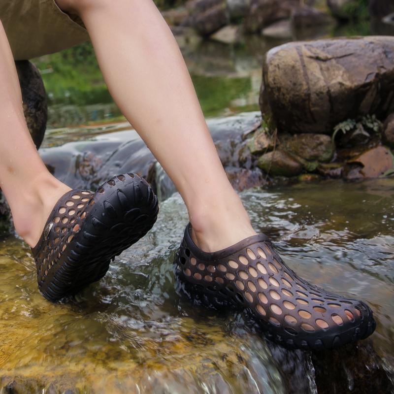 Giày nam lỗ mùa hè - dép nam phiên bản Hàn Quốc- dép đi biển, lội suối - giày Sandal - giày lội nước