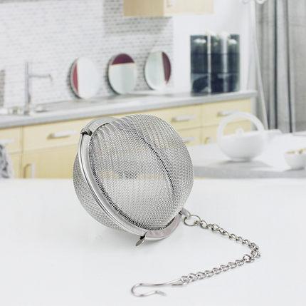 Bóng lọc trà lưới dày mắt nhỏ - bóng lọc trà thép không gỉ nguyên chất - bóng lọc trà đa năng